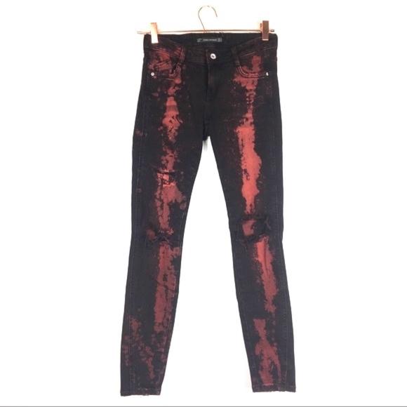 Zara Distress Jeans Sz 2 N/N
